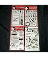 Maymay Made It Clear Acrylic Stamp Set Crafty Handmade Tags Faces LOT OF 4 - $34.88