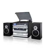 Trexonic 3-Speed Vinyl Turntable  Home Stereo System with CD Player, Dou... - $148.27