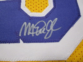 MAGIC JOHNSON / NBA HALL OF FAME / AUTOGRAPHED LAKERS YELLOW CUSTOM JERSEY / COA image 4