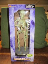 "Gemmy Halloween Illuminated Skeleton-Music/Motion-19"" Tall IOB - $20.00"