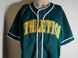 Oakland Athletics A's Jersey MLB Vintage Green Team Baseball Size XL image 3