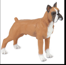 BOXER DOG FIGURINE FAWN BROWN PET PAPO TOY ANIMAL NEW - $6.95