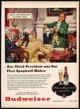 Vintage magazine ad BUDWEISER BEER 1948 Thomas Jefferson pic Walter Rich... - $12.99