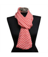 16PC Red Chevron Lightweight Infinity Wrap Cowl Women Scarf Circle Loop ... - £35.62 GBP