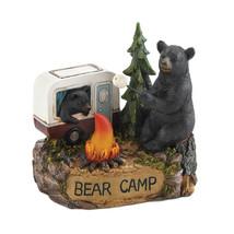 CAMPING BEAR FAMILY LIGHT UP FIGURINE - $31.50