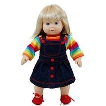 "15"" Inch Baby Doll Clothes Fit American Girl Bitty Twin Rainbow Shirt Sk... - $17.75"