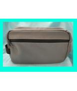 Washable Canvas Men's Shaving, Toiletry & Travel Bag Overnight Case 2 Zi... - $11.84