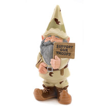 Lawn Gnome, Miniature Gnome Garden, Village Support Our Troops Gnome Fig... - $23.13