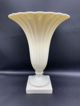 Lenox China Regal Collection Ivory Vase Trumpet Shape with Ribbed Texture 191715 - $79.79