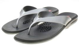 Okabashi Womens Silver Flip Flops Sandals Size Large (9.5-10.5) - $12.86