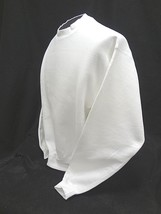 Lee 95 Cotton Crossgrain~Crewneck White Long Sleeve Sweatshirt~Sz Adult Lrg~Nwot - $13.06