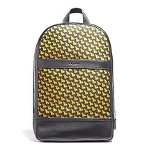 NEW MENS COACH (F22372) BLACK NYLON SLIM BUNNY PRINT BACKPACK LAPTOP BAG - $189.00
