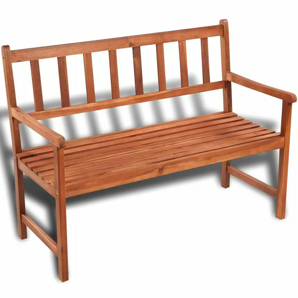 vidaXL Acacia Wood Classic Bench Outdoor Garden Chair Furniture Porch Outdoor