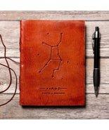 Virgo Zodiac Handmade Leather Journal - $38.00