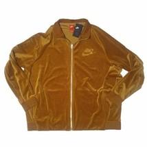 Nike Sportswear Velour Full Zip Track Jacket Elemental Gold L, XL - $59.99
