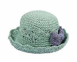 PANDA SUPERSTORE Fashionable Summer Straw Beach Bow Milk White Girl Hat