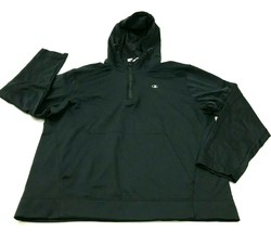 Champion Sweater Hoodie Size Large L Black Pullover 1/4 Zip Long Sleeve ... - $27.33