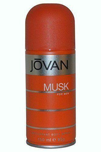 Jovan Musk Deodorant Body Spray Assorted Fragrances for Men - 150 ml