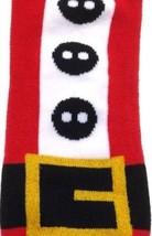 Funky Novelty Red Black White SANTA BUCKLE KNEE HIGH SOCKS Elf Costume S... - $6.90