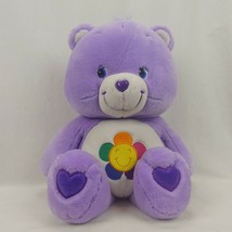 "2003 Care Bear Plush Extra Large 26"" Harmony Bear Purple Jumbo - $59.39"