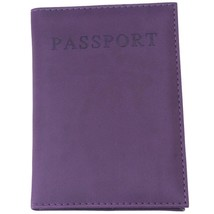 Passport Cover Holder for women or men. PU Leather Travel Wallet (Purple) - $13.20