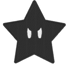 Mario Black Star Ztars Embroidered Rock Patches Sew Iron On Badge Jacket... - $2.88+