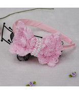 Bridesmaid Flower Girls Party Rose Headbands Ivory Pink  - $6.31