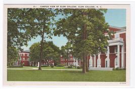 Elon College Campus View North Carolina linen postcard - $4.95