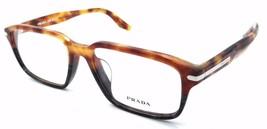 Prada Rx Eyeglasses Frames Vpr 09T-F UFN-1o1 55x17 Havana / Spot Grey As... - $76.44
