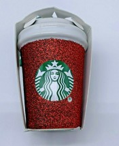Starbucks 2019 Holiday Glitter Red Mini Cup Tumbler Christmas Ornament NEW - $18.84