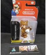 "Tanooki Mario action figure World of Nintendo 4"" Super Mario toy - $34.12"