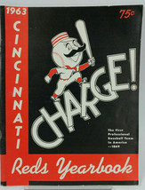 1963 Cincinnati Reds Redlegs Baseball Yearbook MLB - $49.42