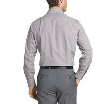 Van Heusen Men's Cool Grey Wrinkle Free Athletic Fit Poplin Dress Shirt M image 3
