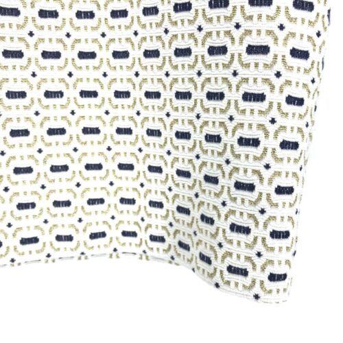 Baum Und Pferdgarten Pencil Skirt Women's Sz M White Blue Gold Metallic Buttons image 4