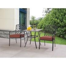 Hotel Furniture 3PCS Patio Garden Bistro Set Metal Steel Cushioned Table... - €151,79 EUR