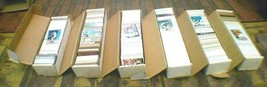 6 boxes, 18 pounds, of sports trading cards 4 different sports 70's thro... - $443.78