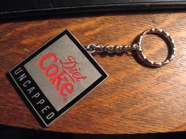 Diet Coke Keychain - Coca Cola Soda Pop Uncapped Pewter Coke Logo Key Ring Chain - $19.79