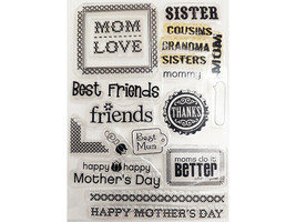 Mother, Friends, Grandma, Sister and More Clear Stamp Set