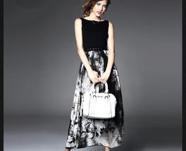 New Trendy Women Ladies Printing Design Retro temperament sleeveless vest dress - $18.50