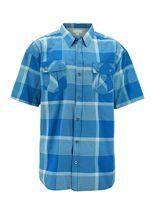 Men's Short Sleeve Cowboy Button Down Casual Plaid Pattern Western Dress Shirt image 6