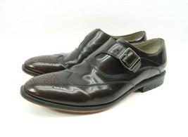 Clarks Mens Wingtip Style Monkstrap Dark Leather Brown Shoe Size 8.5 G E... - $29.65