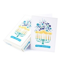 Hallmark UNICEF Hanukkah Boxed Cards, Menorah Candles 12 Cards and 13 En... - $17.47