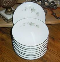 "9pc Noritake Sezanne 6851 Bread/Butter Plate 6.25"" Saucer Platinum Band ... - $39.59"