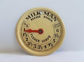 Vintage Retro Milkman Milk Pint Indicator Sign  - $35.34