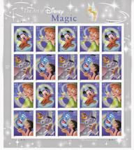 The Art of Disney Magic, Full Sheet of 20 x 41 Cent USPS Stamps, Scott 4192-95 - $19.69