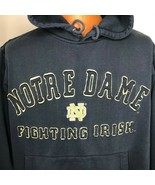 Vintage Notre Dame Fighting Irish Hooded Sweatshirt Foot Locker Small Ho... - $59.39