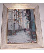 Vintage LISTED Signed Mario Ferdelba European Art Street Scene Vintage P... - $1,724.79