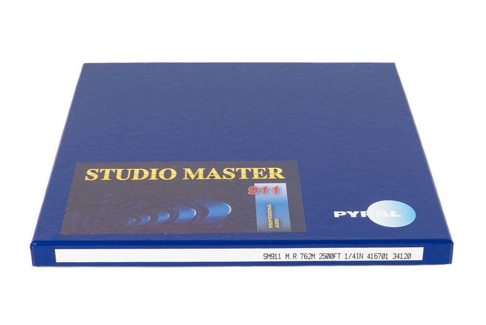 "RTM SM911 Master Tape Metal Reel 1/4"" 2500' 762m 10.5"" Authorised Dealer"