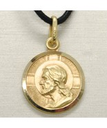 SOLID 18K YELLOW GOLD JESUS CHRIST REDEEMER 15 MM MEDAL, PENDANT, MADE I... - $272.65