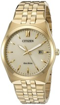Citizen Men's Eco-Drive Stainless Steel Gold Tone Watch BM7332-53P image 1